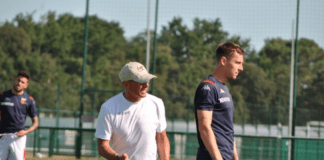 Genoa Andreazzoli allenamento Lerager